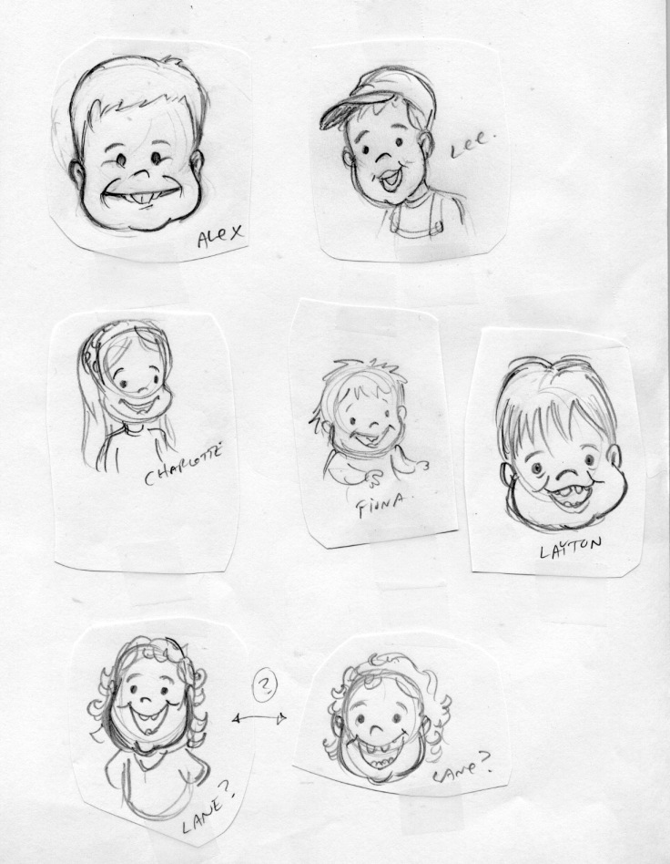 caricatures of kids